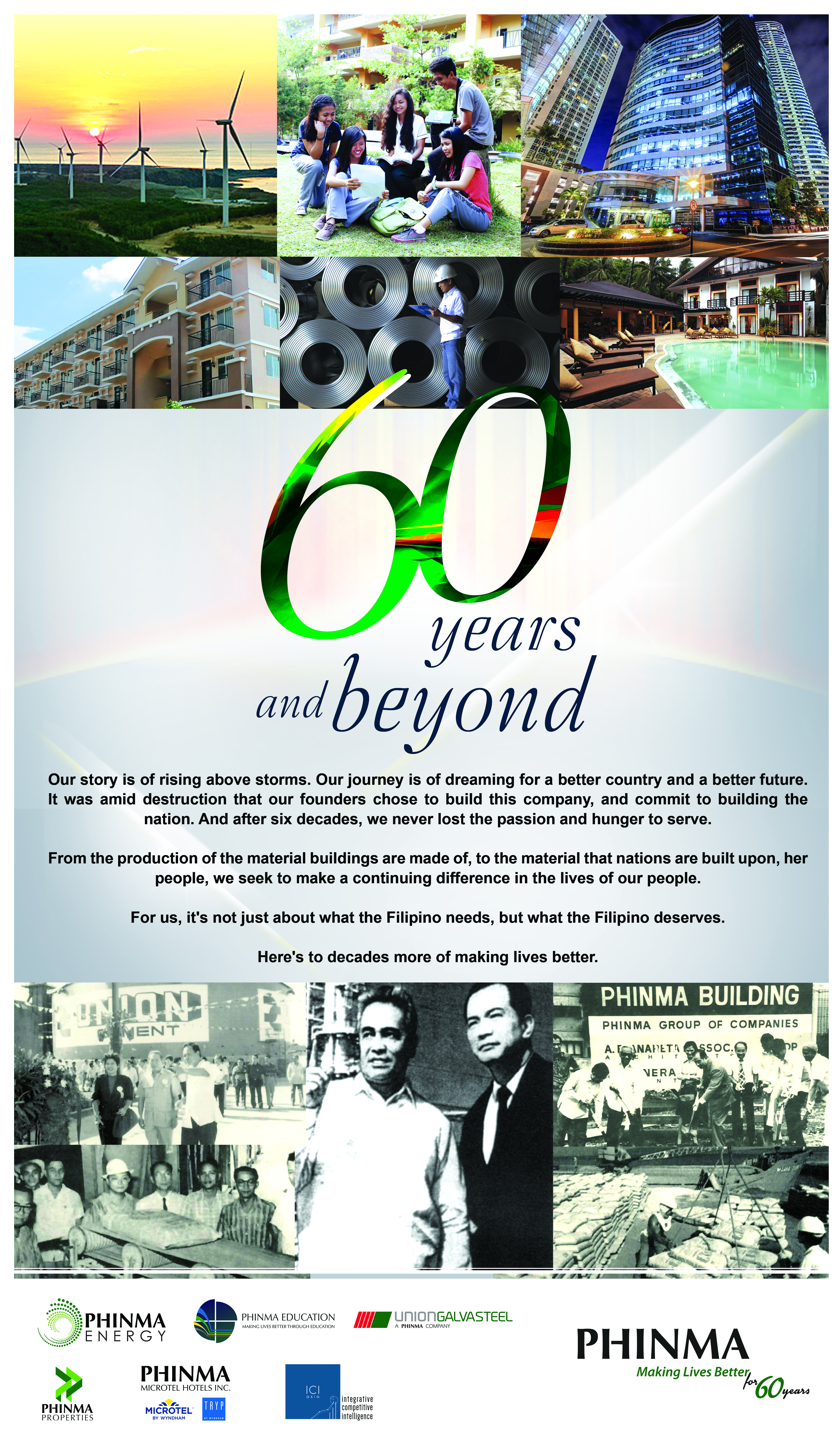 PHINMA for 60 Omnibus Print Ad & Poster artwork