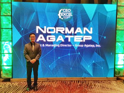 Grupo Agatep President and Managing Director, Norman Agatep is one of this year's recipients of the IABC CEO Excel Awards. He is being recognized for his contributions in the field of marketing communication.